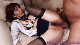 Mature asian analized and spitroasted