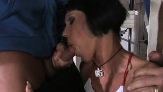 Hot MILF gets two rock solid peckers